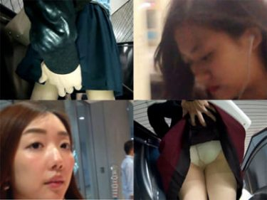 【JKパンチラ盗撮】ムッチリ太ももの制服女子高生をスカートめくり!