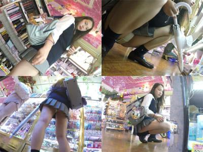 【JKパンチラ盗撮】愛しの制服Pチラ!の女子高生!4